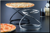 Beautiful Stainless Swirl Pizza Stand