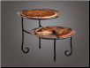 Black Iron 2-Pizza Stand