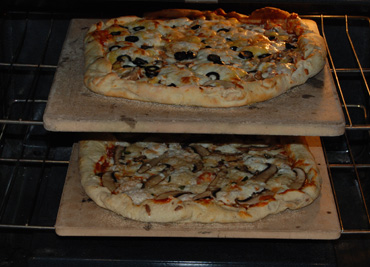 two pizza stones
