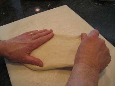 pull pizza dough