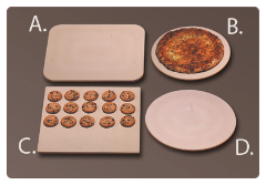 "B: 13"" Round Pizza Baking Stone"