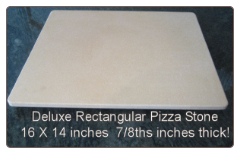 "Rectangular Pizza Stone | Pro-Grade | 14"" x 16"" 