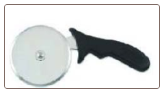 Pizza Cutter, Easy Grip Plastic Handle, 4 in Stainless Steel Wheel