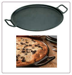Pro-Logic Pizza/Roasting Pre-Seasoned Cast Iron Pan -14 inch